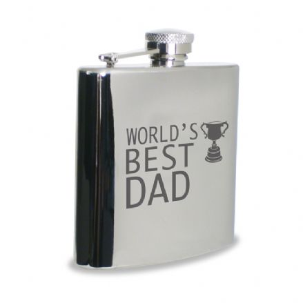 World's Best Dad Hip Flask